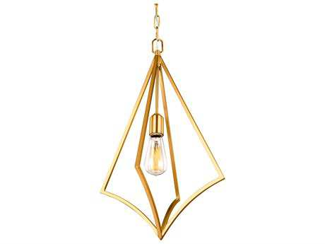 Feiss Nico Burnished Brass One-Light 14'' Wide Edison Pendant Light