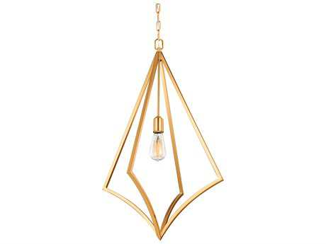 Feiss Nico Burnished Brass One-Light 19'' Wide Edison Pendant Light