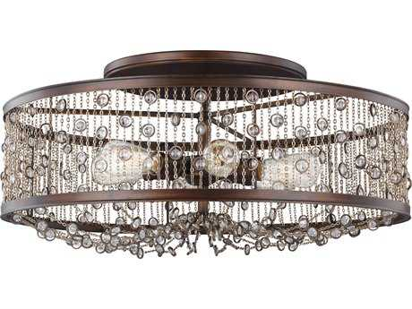 Feiss Colorado Springs Chestnut Bronze Six-Light 29.25'' Wide Semi-Flush Mount
