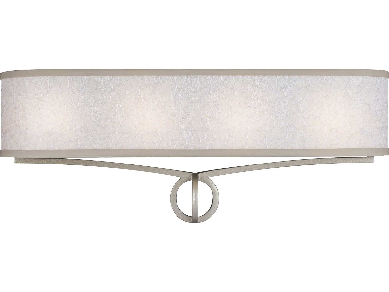 Vanity Light Diffuser : Feiss Parchment Park Dark Silver Four-Light 24 Wide Vanity Light with Glass Diffuser Shade ...