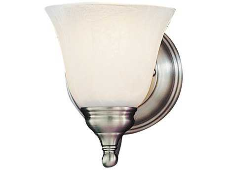 Feiss Bristol Pewter 5'' Wide Vanity Light with White Alabaster Glass Shade