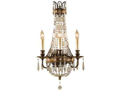Feiss Bellini Oxidized Bronze / British Bronze Three-Light 12.75'' Wide Wall Sconce