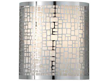 Feiss Joplin Chrome 8'' Wide Wall Sconce with Off White Linen Shade