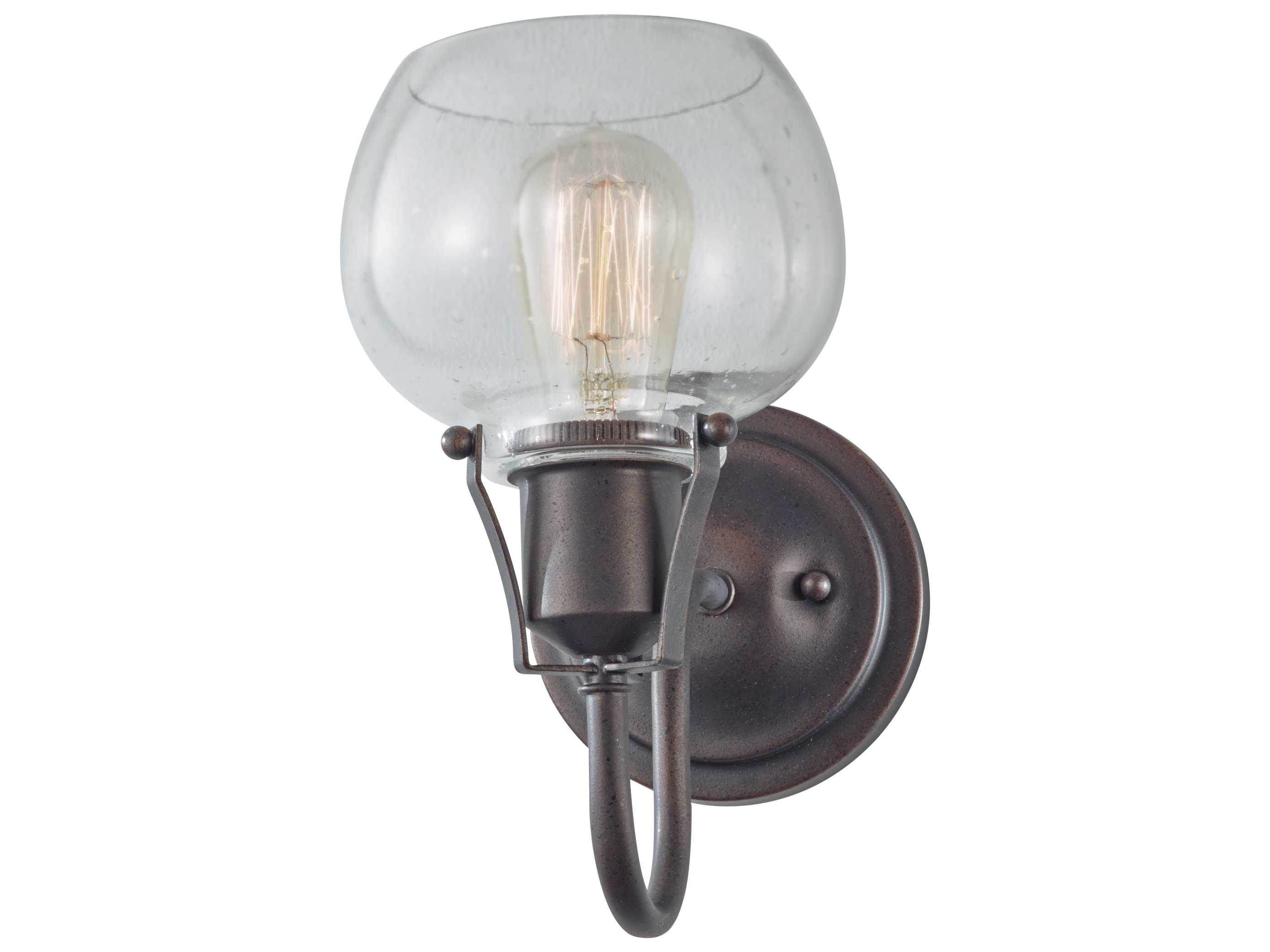 Kichler Barrington 3 Light 22 In Cylinder Vanity Light At: Feiss Urban Renewal Rustic Iron 6'' Wide Wall Sconce With