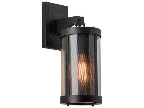 Feiss Bluffton Oil Rubbed Bronze 6.13'' Wide Wall Sconce with Clear Glass Shade