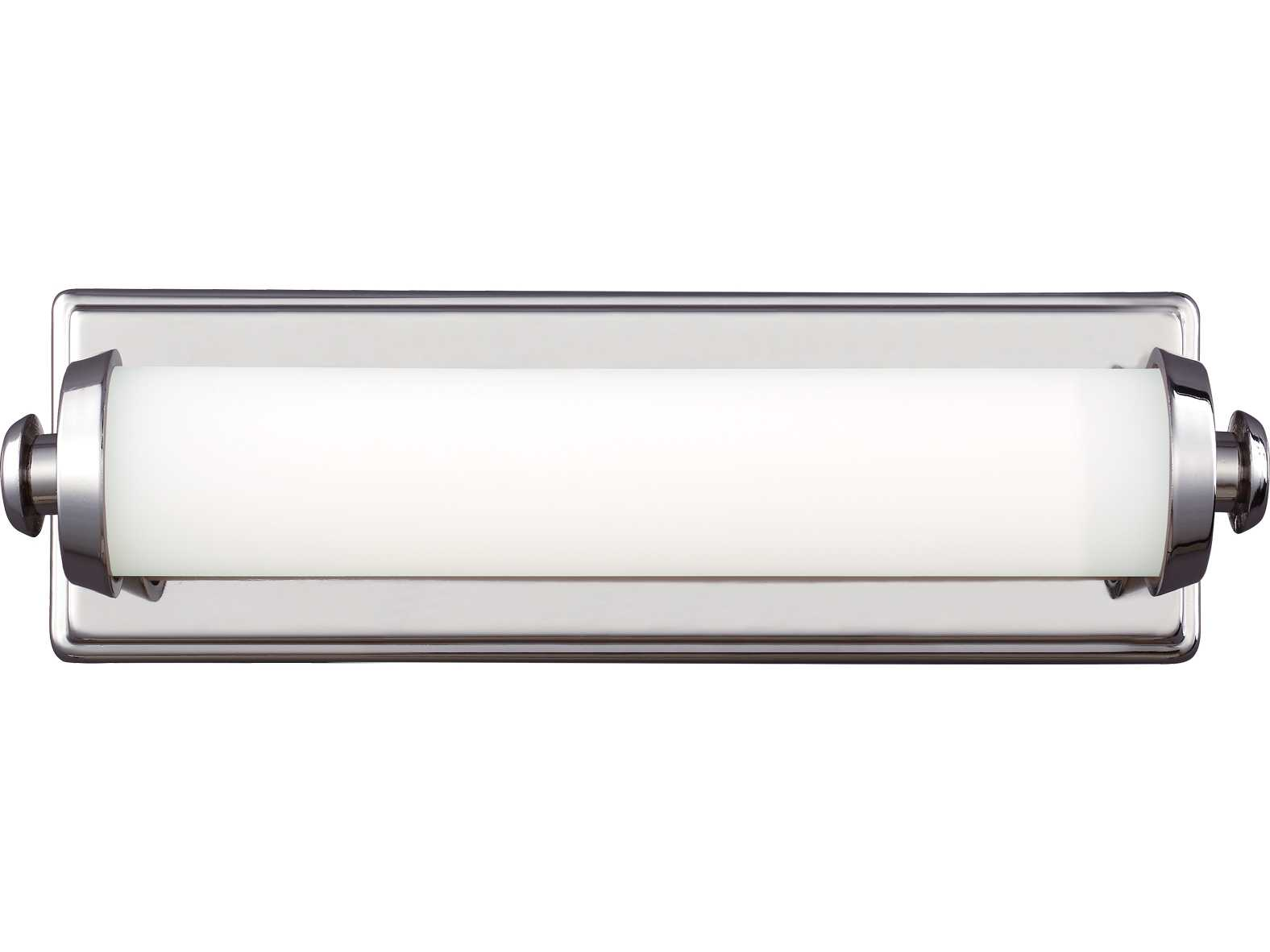 Feiss Edgebrook Polished Nickel 15 Wide Vanity Light with Glass Diffuser and Opal Etched Glass ...