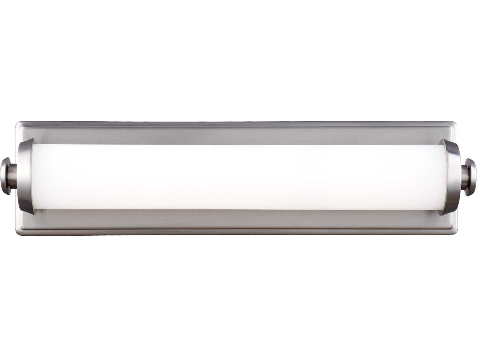 Vanity Light Diffuser : Feiss Edgebrook Satin Nickel 18 Wide Vanity Light with Glass Diffuser and Opal Etched Glass ...