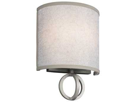 Feiss Parchment Park Dark Silver Two-Light 8.13'' Wide Vanity Light with Gold Mesh Fabric Shade
