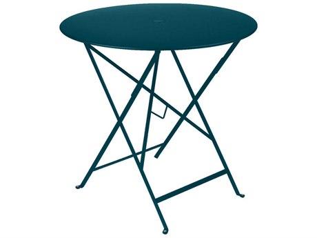 Fermob Bistro 30'' Wide Steel Round Umbrella Hole Table