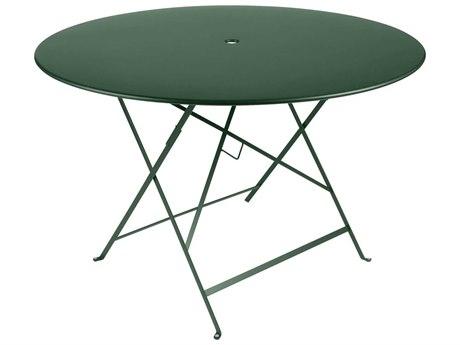 Fermob Bistro 46'' Wide Steel Round Umbrella Hole Table