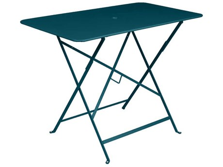 Fermob Bistro 38'' Wide Steel Rectangular Umbrella Hole Table