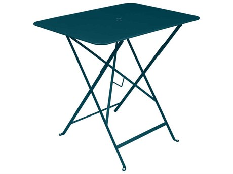 Fermob Bistro 30'' Wide Steel Rectangular Umbrella Hole Table