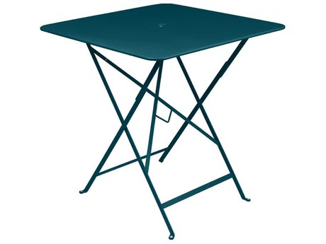 Fermob Bistro 28'' Wide Steel Square Umbrella Hole Table