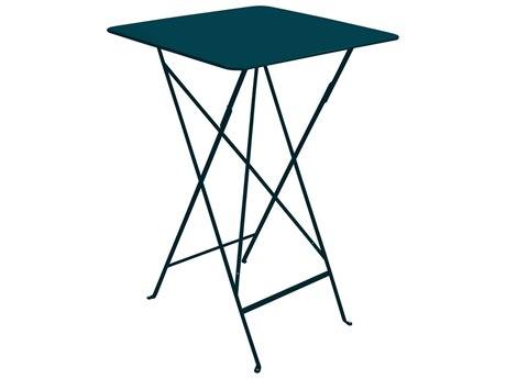 Fermob Bistro 28'' Wide Steel Square Bar Table