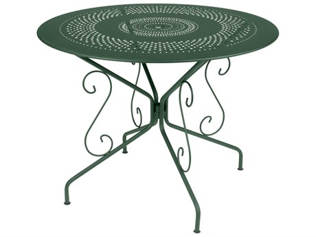 Fermob Montmartre 38'' Wide Steel Round Umbrella Hole Bistro Table