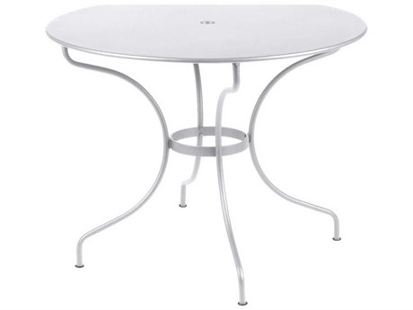 Fermob Opera 38'' Wide Steel Round Umbrella Hole Bistro Table
