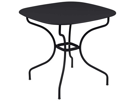 Fermob Opera 32'' Wide Steel Square Dining Table PatioLiving