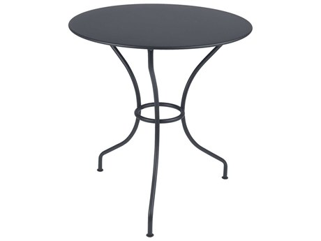 Fermob Opera 26'' Wide Steel Round Dining Table PatioLiving