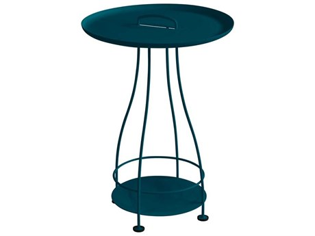 Fermob Happy Hours 17'' Wide Steel Round End Table