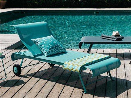 Fermob Dune Steel Pool Patio Lounge Set