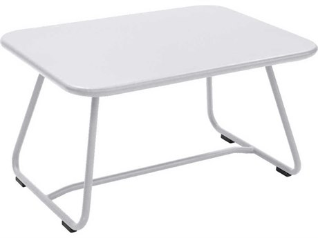 Fermob Sixties 30'' Wide Aluminum Rectangular Coffee Table PatioLiving