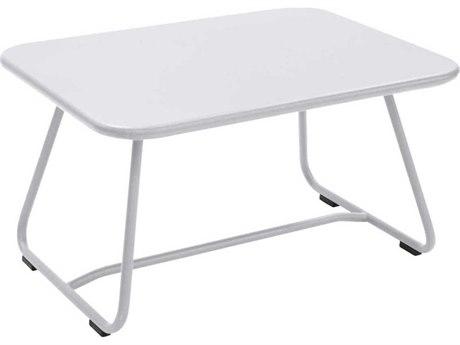 Fermob Sixties 30'' Wide Steel Rectangular Coffee Table PatioLiving