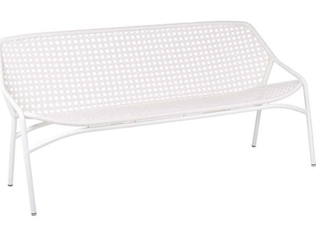 Fermob Croisette Aluminum Recycled Plastic Wicker Bench PatioLiving