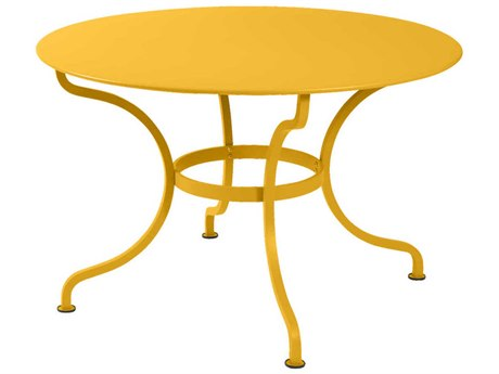 Fermob Romane 47'' Wide Steel Round Bistro Table