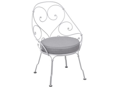 Fermob 1900 Steel Cushion Dining Chair PatioLiving