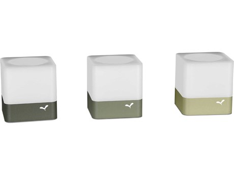 Fermob Cuub Willow Green / Cactus / Rosemary Tea-Light Holder (Set of 3) PatioLiving