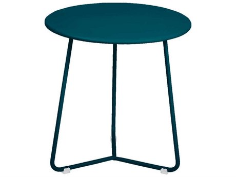 Fermob Cocotte 13'' Wide Steel Round End Table
