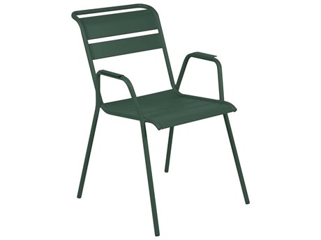 Fermob Monceau Steel Metal Dining Chairs (Set of 2) PatioLiving