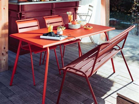 Fermob Monceau Steel Casual Patio Dining Set