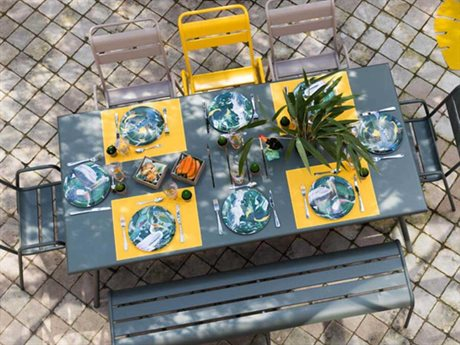 Fermob Monceau Steel Bistro Patio Dining Set