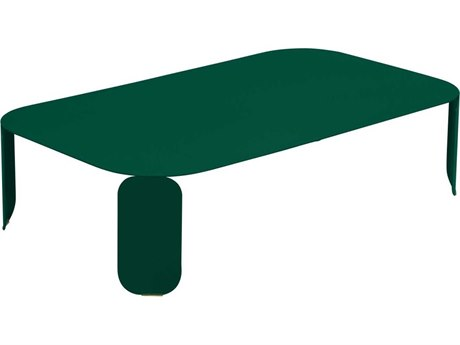 Fermob Bebop 47'' Wide Aluminum Steel Rectangular Coffee Table PatioLiving