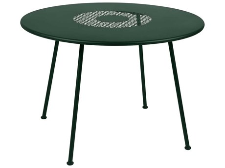 Fermob Lorette 43'' Wide Steel Round Dining Table PatioLiving