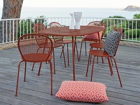 Fermob Lorette Steel Casual Patio Dining Set