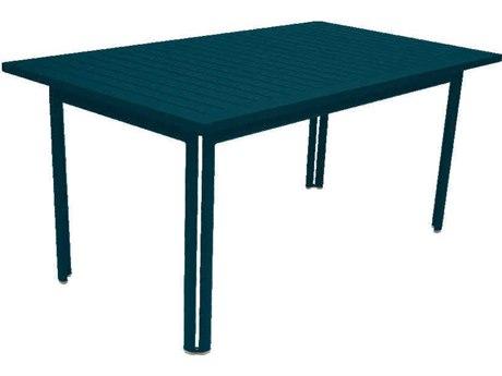 Fermob Costa 63'' Wide Aluminum Rectangular Dining Table