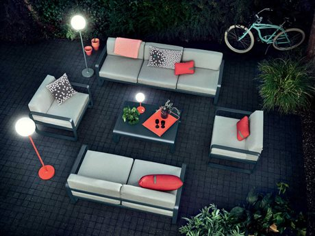 Fermob Bellevie Aluminum Cushion Lounge Set