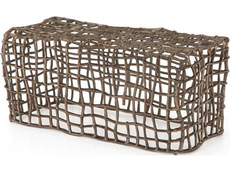 Four Hands Outdoor Marlow Aged Bronze Aluminum Metal Bench