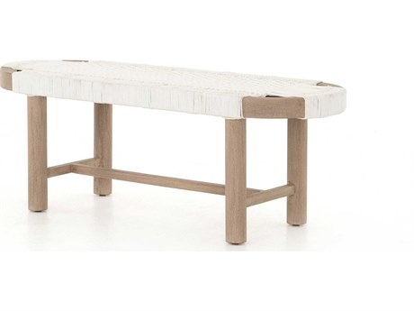 Four Hands Outdoor Solano Teak Strap Bench PatioLiving