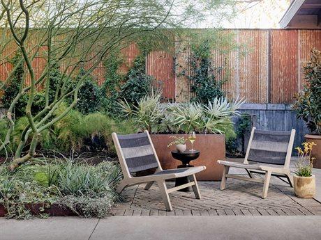 Four Hands Outdoor Solano Teak Sling Lounge Set