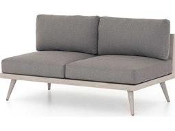 Solano Charcoal / Weathered Grey Teak Cushion Loveseat
