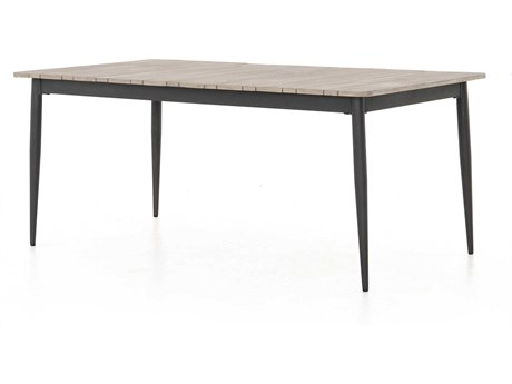 Four Hands Outdoor Solano 70 Wide Aluminum Rectangular Dining Table