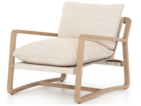 Four Hands Outdoor Solano Wood Cushion Lounge Chair
