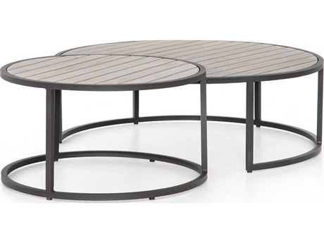Four Hands Outdoor Solano 40'' Wide Aluminum Round Coffee Table PatioLiving