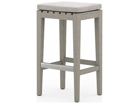 Four Hands Outdoor Solano Teak Cushion Bar Stool