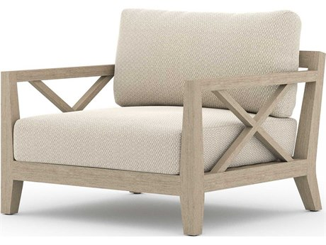 Four Hands Outdoor Solano Teak Cushion Lounge Chair PatioLiving