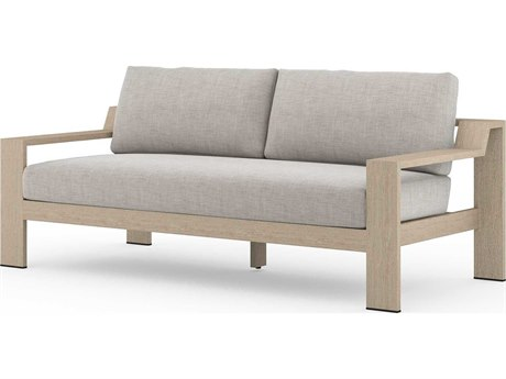 Four Hands Outdoor Solano Teak Cushion Loveseat PatioLiving