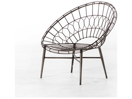 Four Hands Outdoor Palmer Wrought Iron Metal Lounge Chair